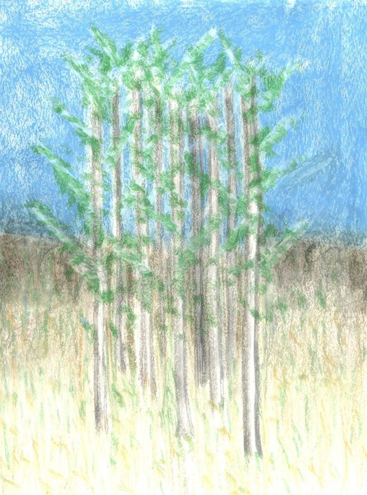White Trees in Fields - Laura Nybeck's Art