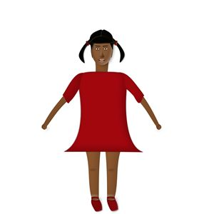 Young African Girl in Red