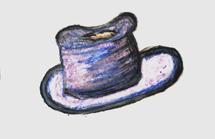 Oil Pastel Derby Hat - Laura Nybeck's Art