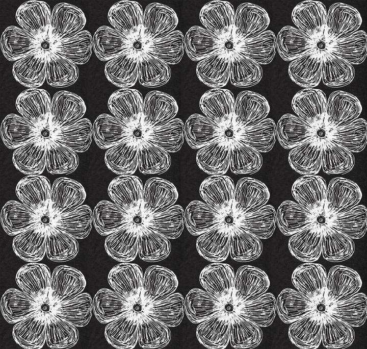 White Flowers Small Pat on Bk - Laura Nybeck's Art