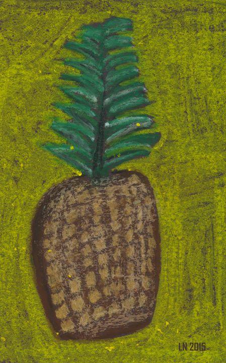 Floating Pineapple on Yellow - Laura Nybeck's Art