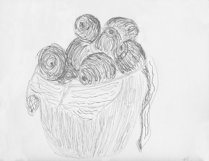 Black and White Apples in Bowl - Laura Nybeck's Art