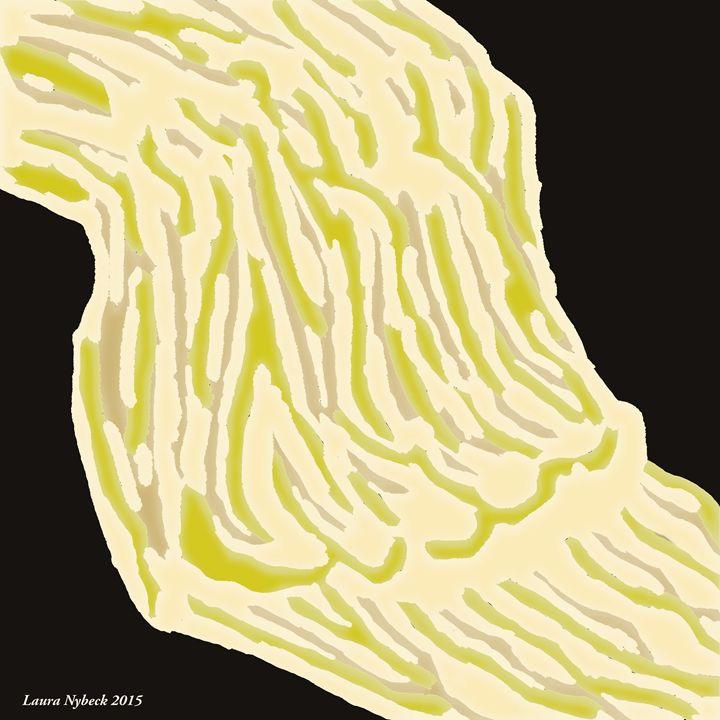 Yellow Waterfall - Laura Nybeck's Art