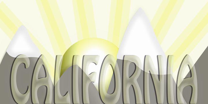 California Text Mountain Sunrise - Laura Nybeck's Art