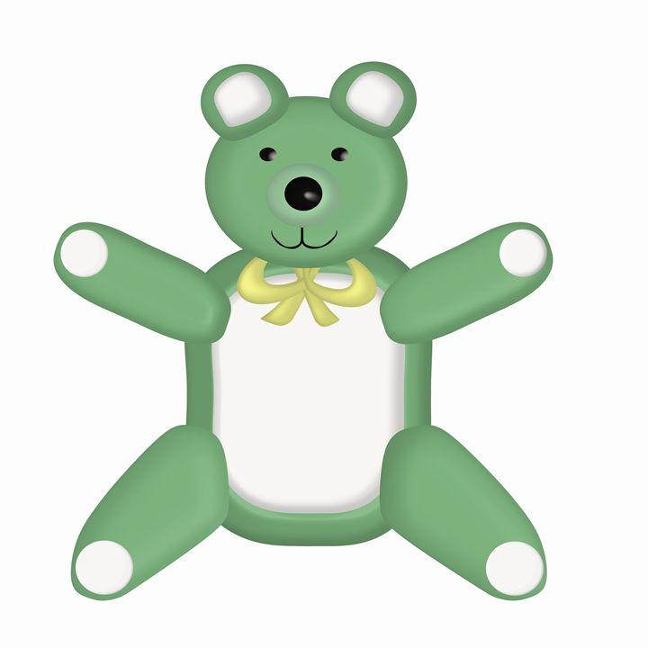 Green Teddy Bear - Laura Nybeck's Art