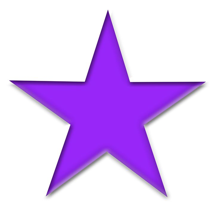 Large Solid Purple Star on White - Laura Nybeck's Art