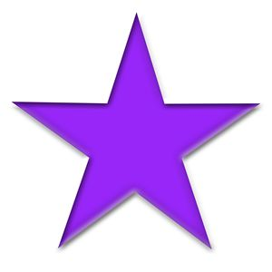 Large Solid Purple Star on White