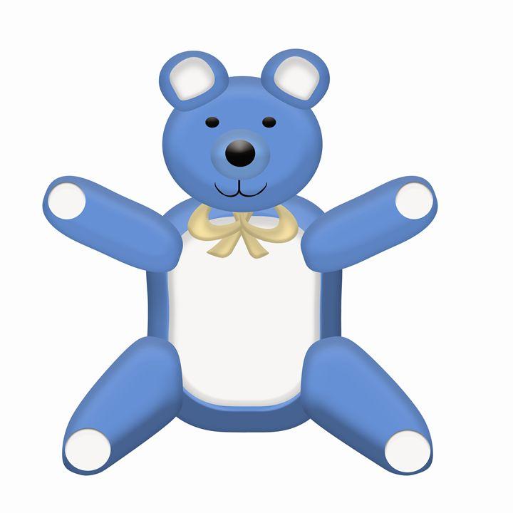 Blue Teddy Bear - Laura Nybeck's Art