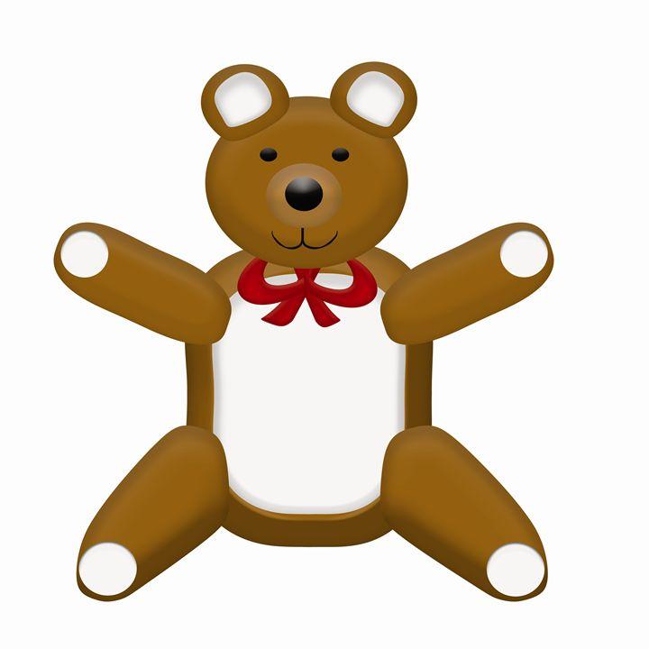 Large Brown Teddy Bear - Laura Nybeck's Art