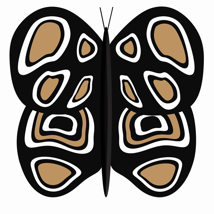 Large Black, White and Tan Butterfly - Laura Nybeck's Art