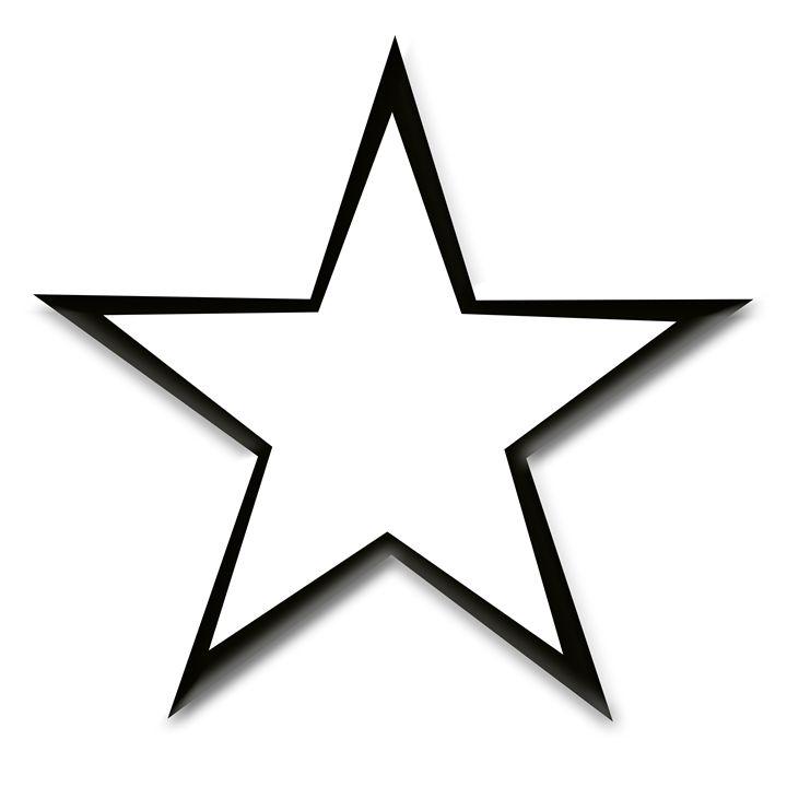 Black Star Outline on White - Laura Nybeck's Art