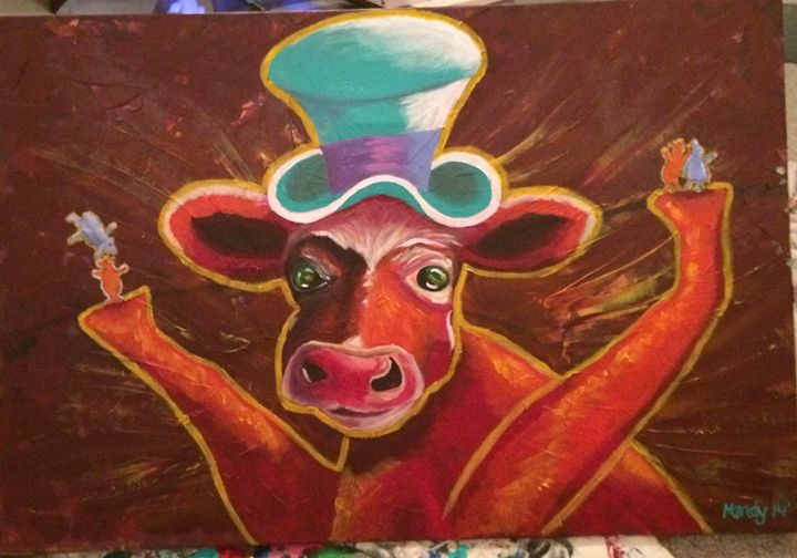 The Mad Cow Dance - Mandy Miller - Paintings & Prints