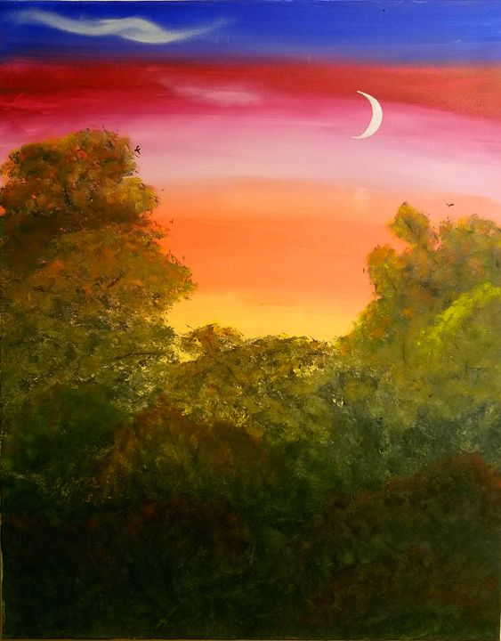 Cedar Valley Trail at Dusk - Kate's Creations