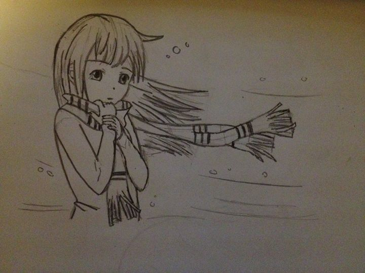 anime girl with scarf - Lotzzzzz2