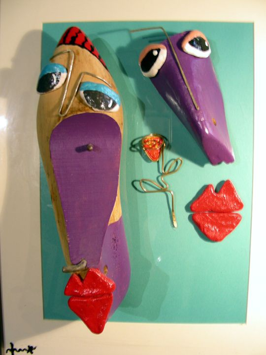 Faces, out of wooden shoe prototype. - Kox