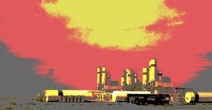 factory sunset
