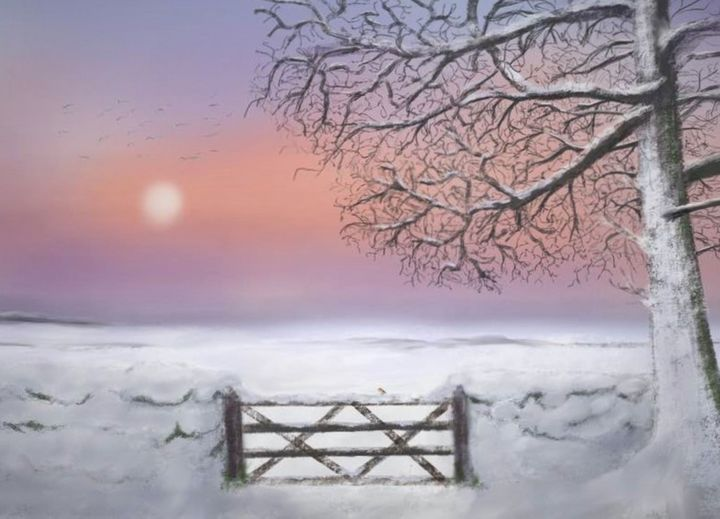 Winter Sunset - Lesley Weyman