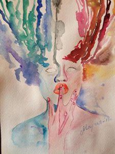 watercolor women
