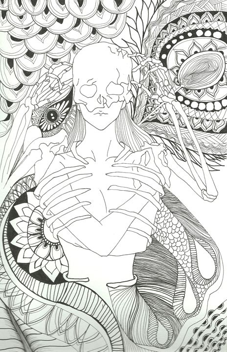 Lilith - Original drawing - Kara Savelli Art