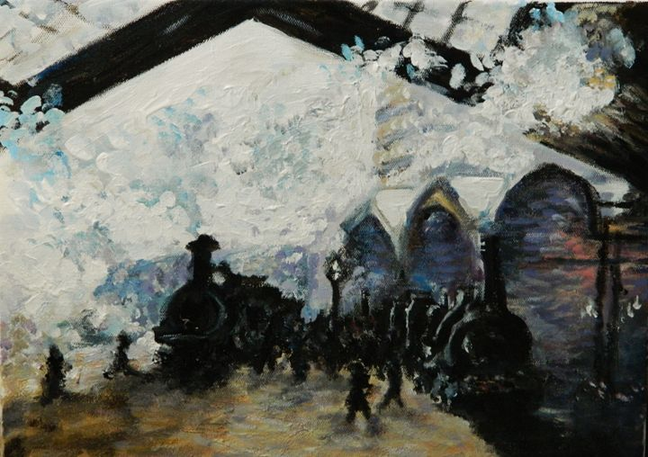 Train Station - Evan's Art