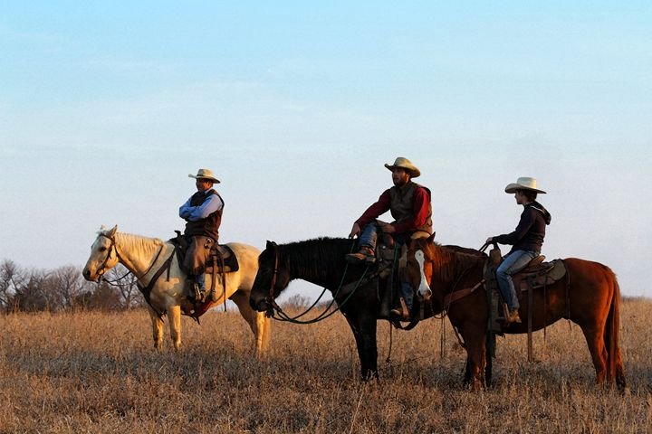 Three Flint Hills Cowboys - Catherine Sherman