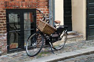Black Bicycle with Big Basket - Catherine Sherman