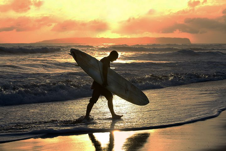 Surfer Heading Home - Catherine Sherman