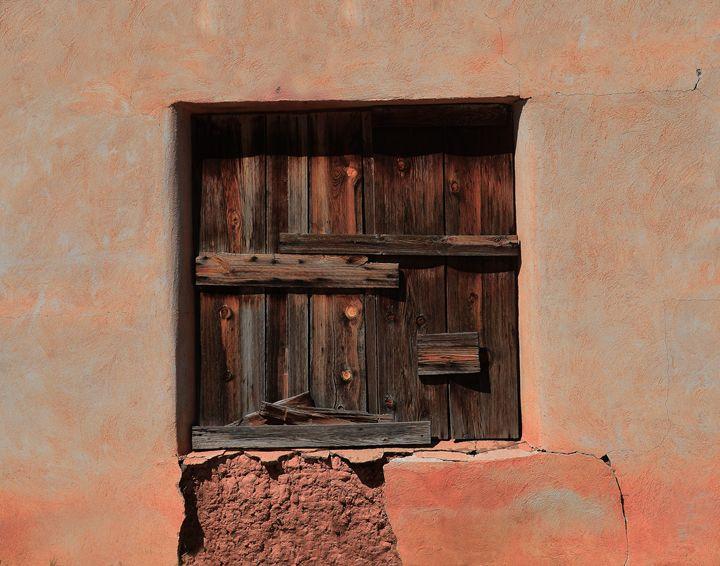 Wooden Shutters in Adobe House - Catherine Sherman