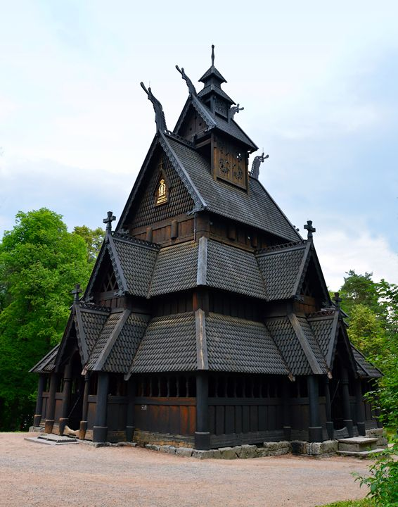 Norwegian Medieval Stave Church - Catherine Sherman
