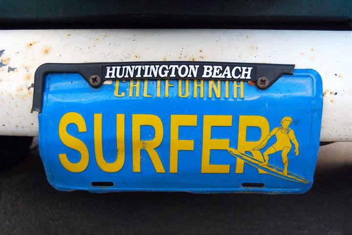 California Surfer License Plate - Catherine Sherman