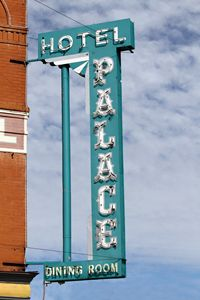 The Palace Hotel Sign - Catherine Sherman