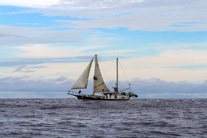 Pirate Ship in the Galapagos Islands - Catherine Sherman