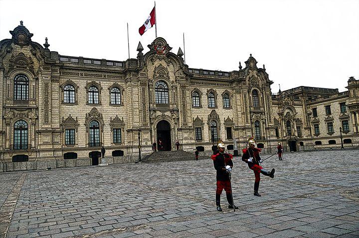 Government Palace Guards, Lima, Peru - Catherine Sherman
