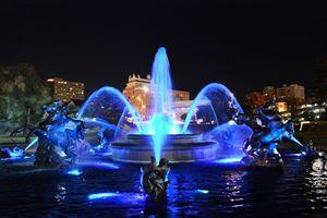 J.C. Nichols Fountain in Royal Blue - Catherine Sherman