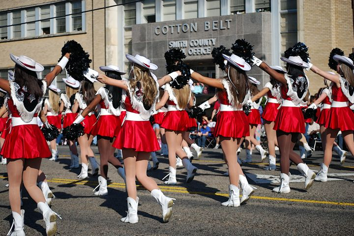 Marching in the Texas Rose Parade - Catherine Sherman