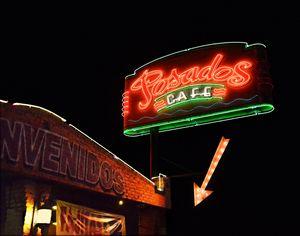 Posados Cafe Neon Sign - Catherine Sherman