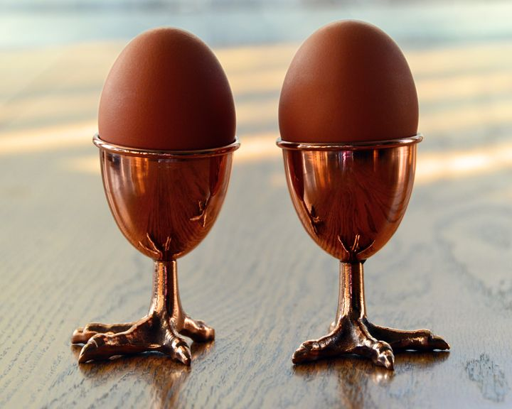 Copper Chicken Feet Egg Cups - Catherine Sherman