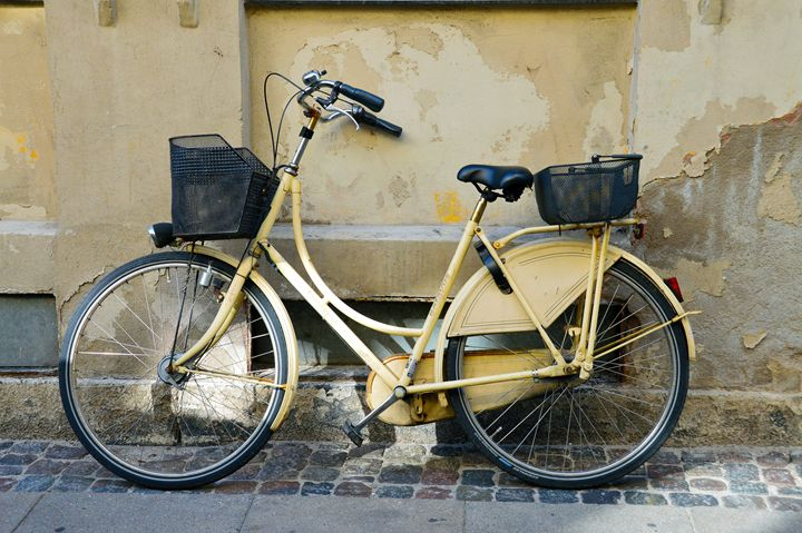 Yellow Bicycle in Denmark - Catherine Sherman