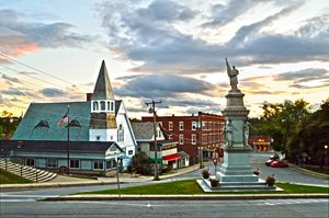 Middlebury, Vermont, at Sunset