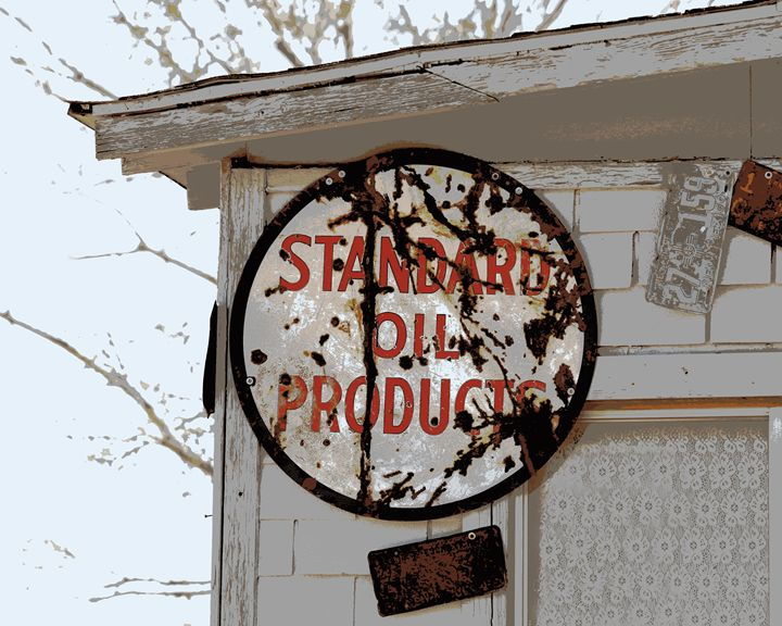Standard Oil Products Sign - Catherine Sherman