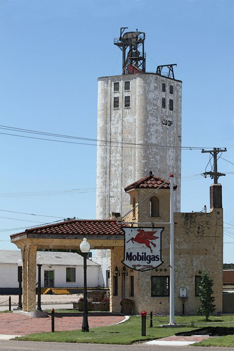 Grain Elevator, Vintage Gas Station - Catherine Sherman