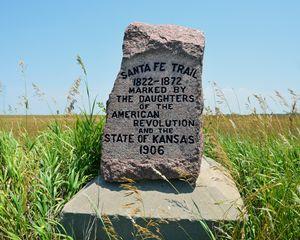 Santa Fe Trail Marker #35 in Kansas - Catherine Sherman