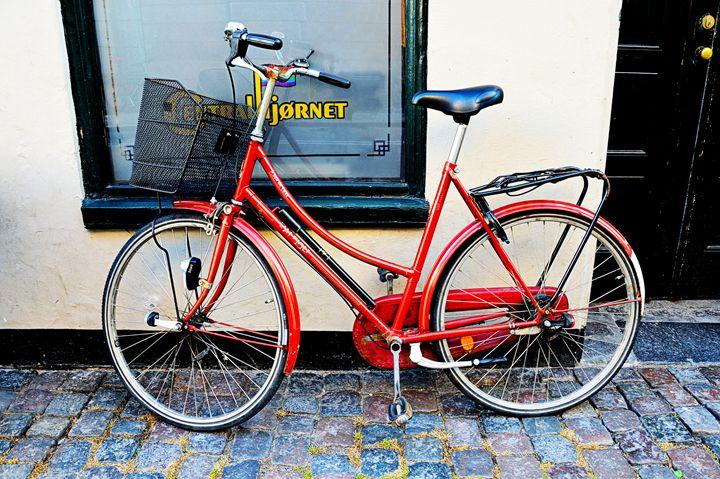 Red Bicycle in Copenhagen - Catherine Sherman