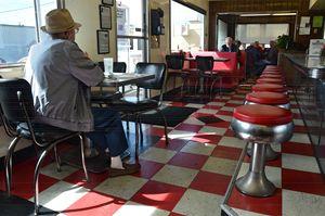 Vintage Valentine Diner Interior - Catherine Sherman