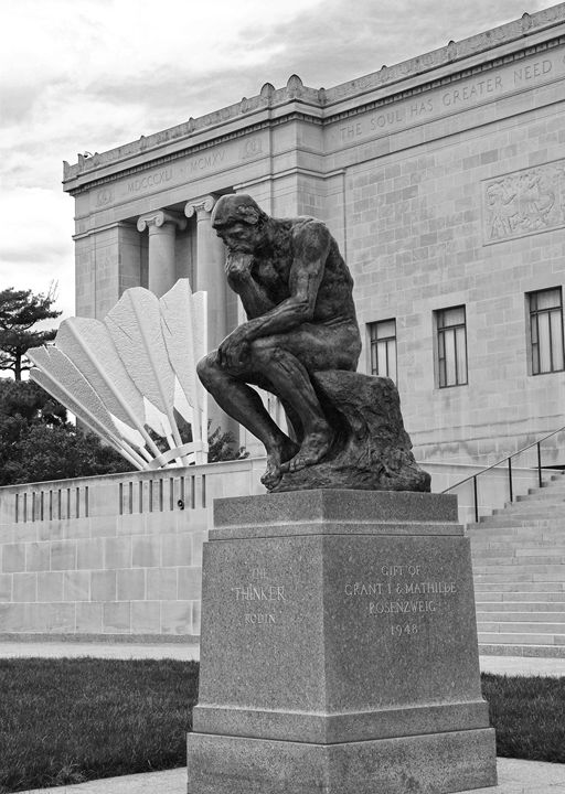 The Thinker and The Shuttlecock BW - Catherine Sherman
