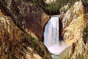 Lower Yellowstone Falls Close Up