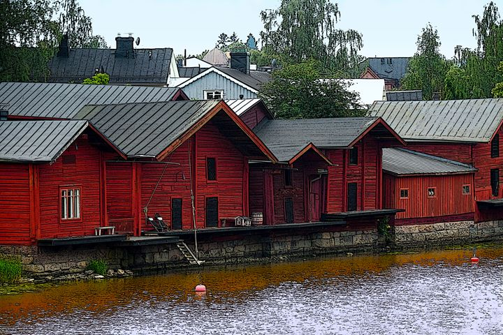 Red Storehouses, Porvoo, Finland - Catherine Sherman
