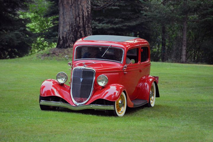 Red 1934 Ford Coupe Automobile - Catherine Sherman