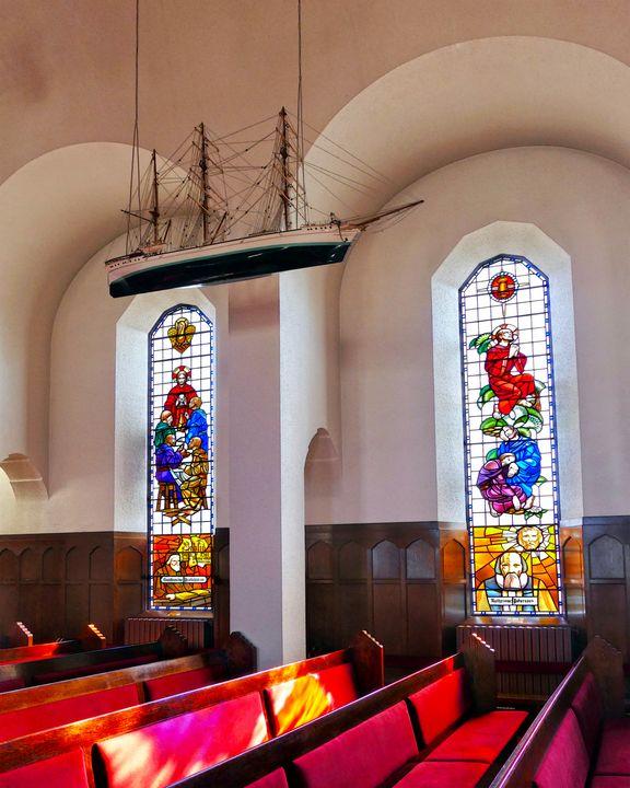 Akureyri Church Interior, Iceland - Catherine Sherman
