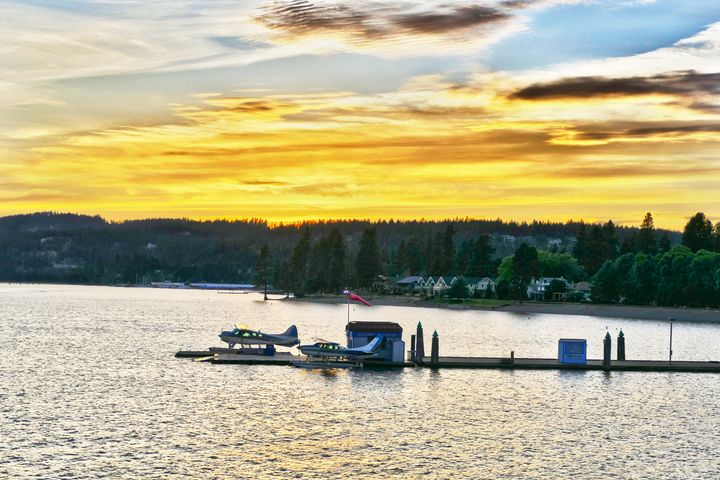 Float Airplanes, Lake Coeur d'Alene - Catherine Sherman